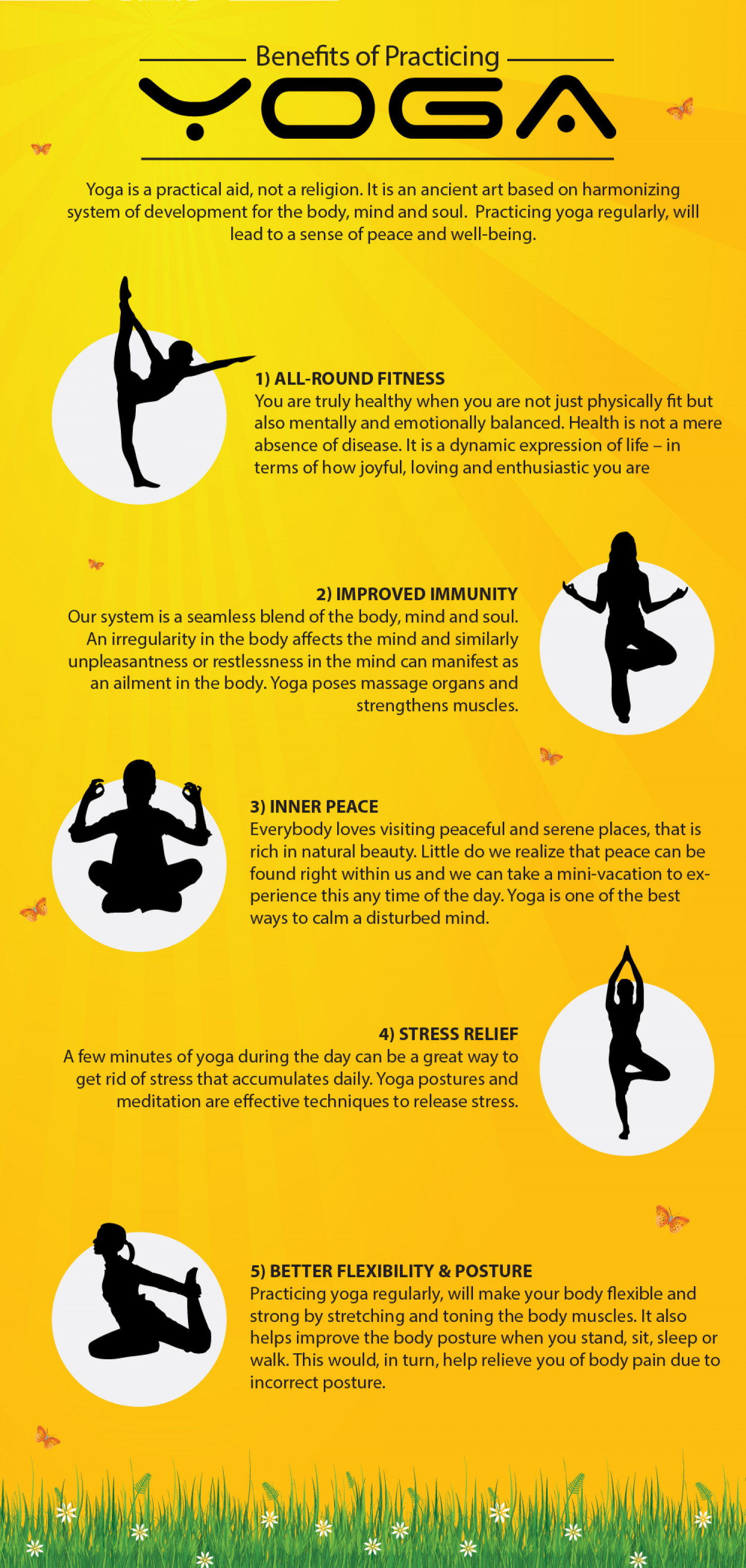 Benefits Of Practicing Yoga Infographic