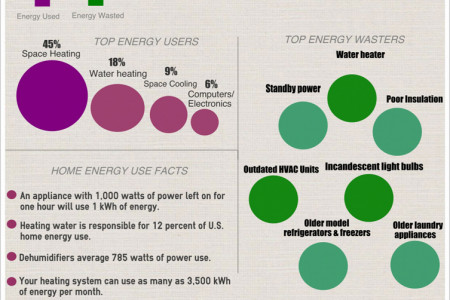 how you use and waste energy in your home Infographic