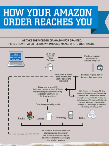 How Your Amazon Order Reaches You  Infographic