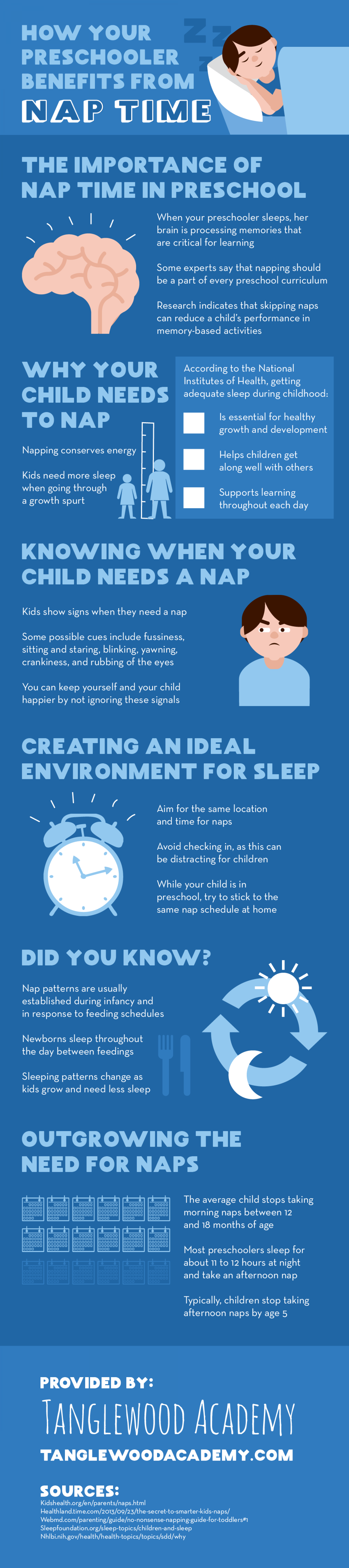 How Your Preschooler Benefits from Nap Time Infographic