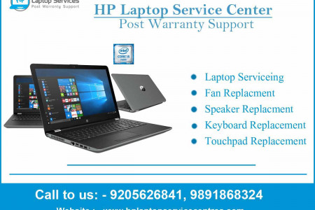 HP Service Center in Noida Infographic