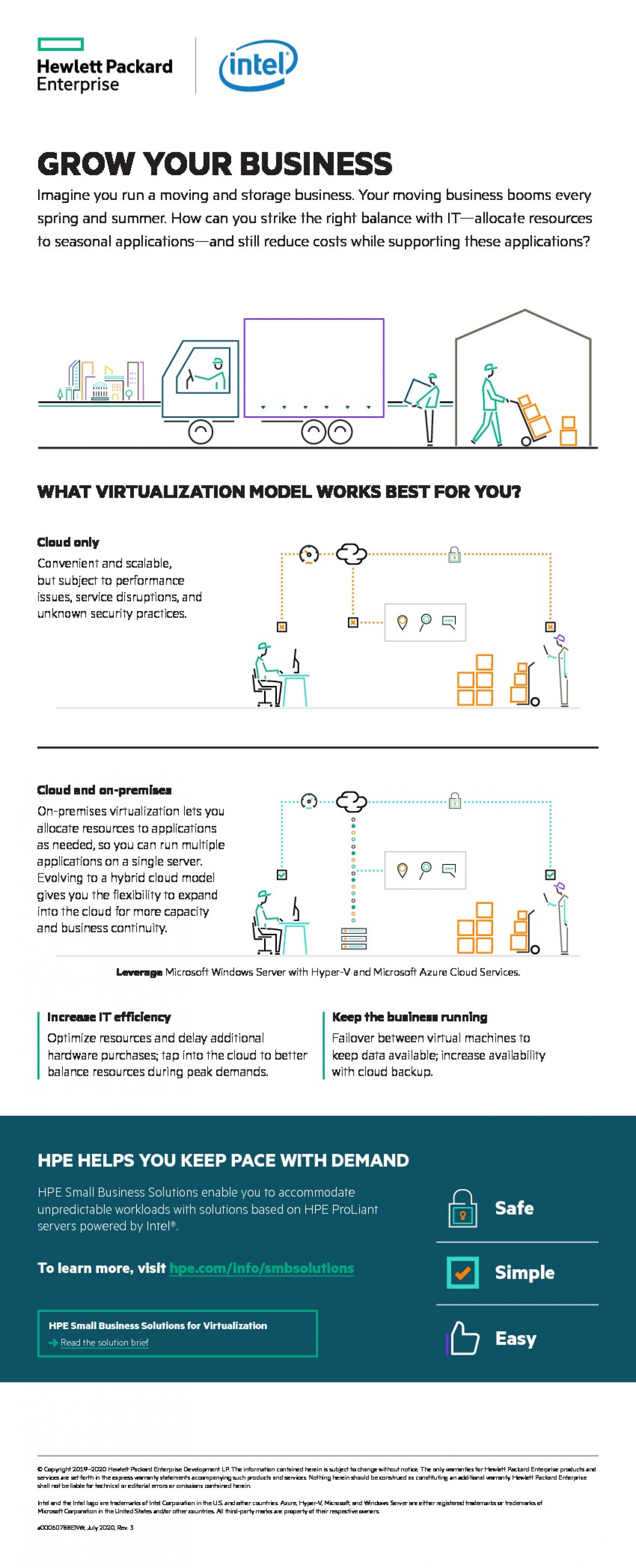 HPE Small Business Data Virtualization Solutions  Infographic