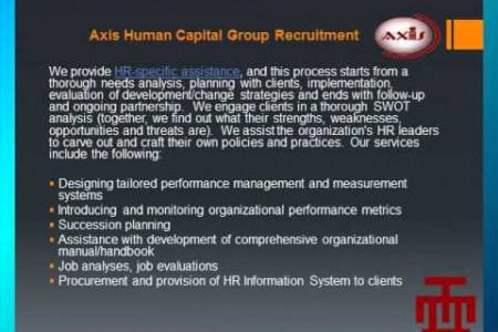 HR Technical Assistance of Axis Human Capital Group Recruitment Infographic