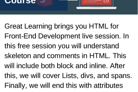 HTML Front-End Development Course Infographic