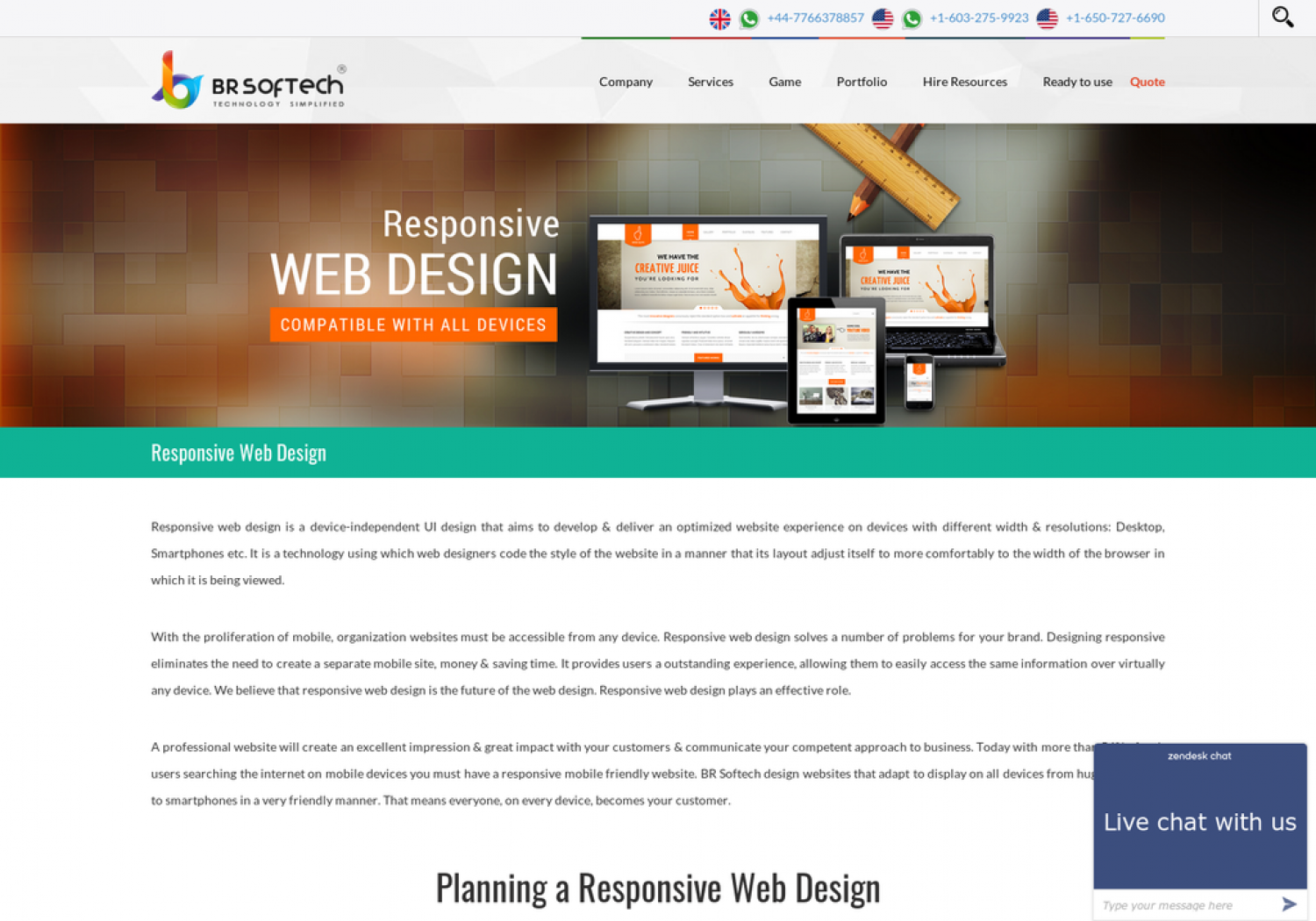 HTML5 Responsive Web Design Company in India Infographic