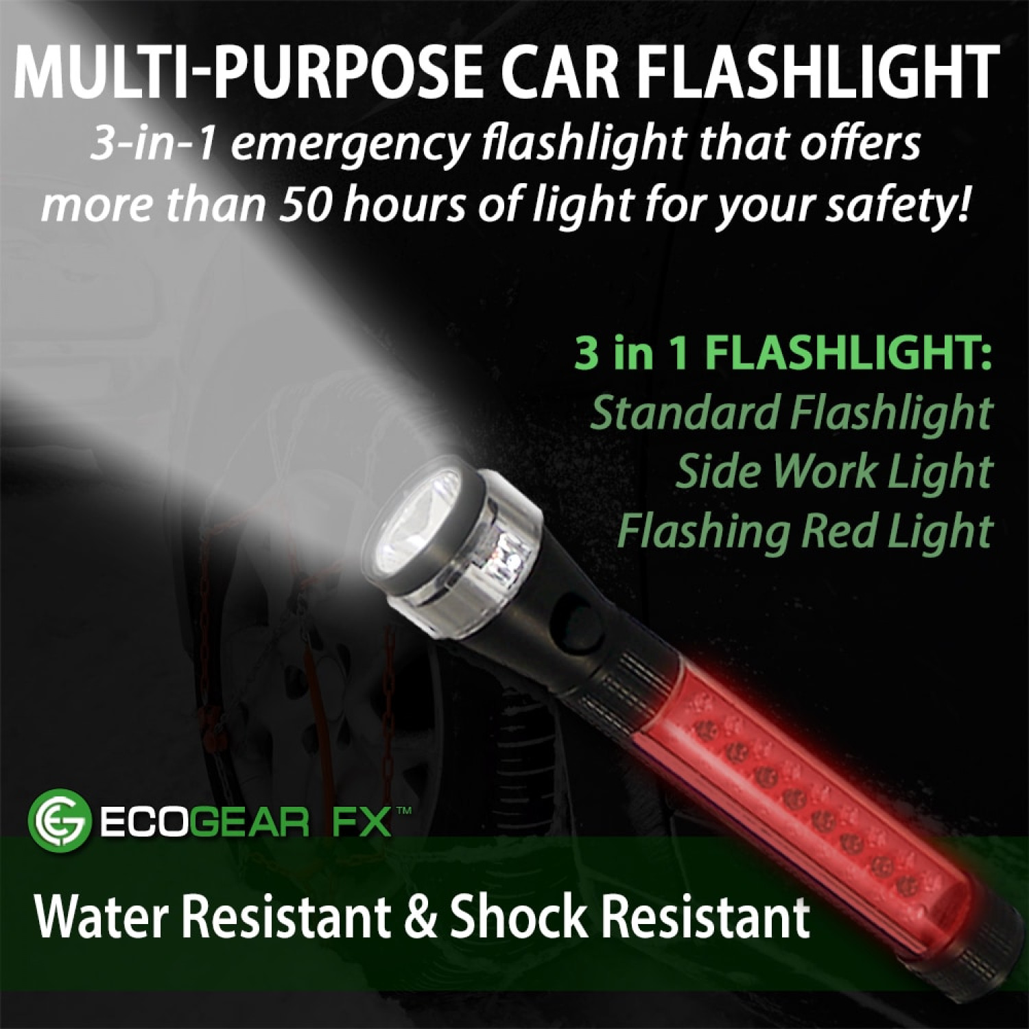 https://www.ecogearfx.com/product/multi-function-led-worklight-flashlight/ Infographic