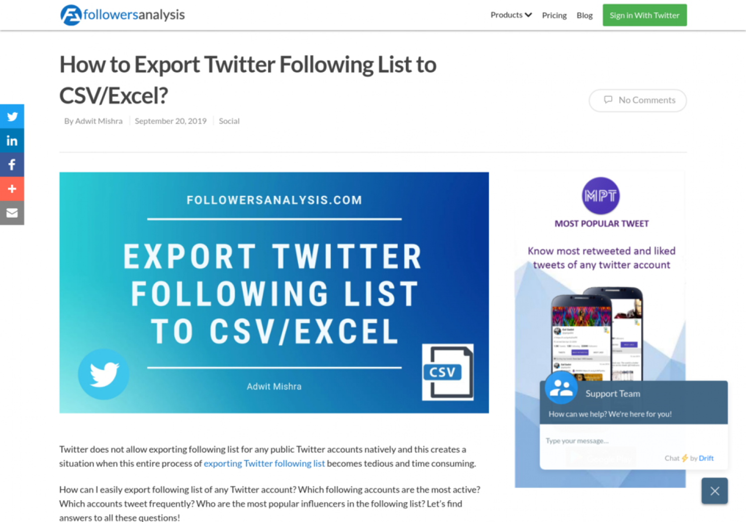 https://www.followersanalysis.com/blog/how-to-export-twitter-following-list-to-csv-excel/ Infographic