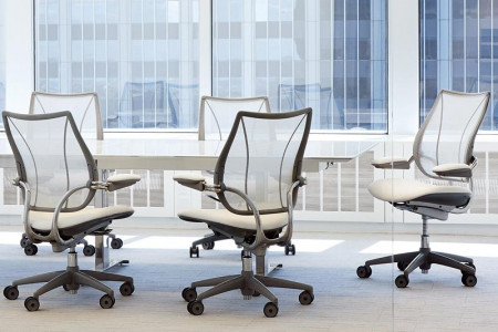 Humanscale: Back Support Liberty Task chair Ergonomics | India Infographic