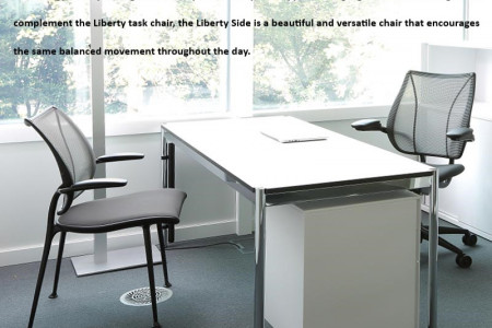 HUMANSCALE: LIBERTY SIDE CHAIR | OFFICE SUPPLIES | ERGONOMICS Infographic