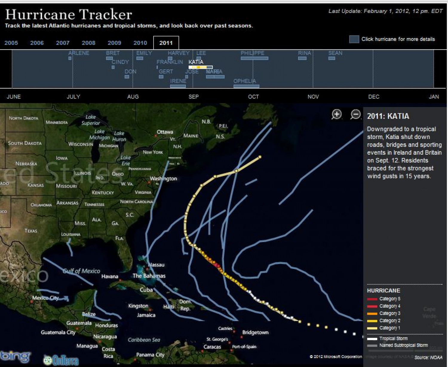 Hurricane Tracker Infographic