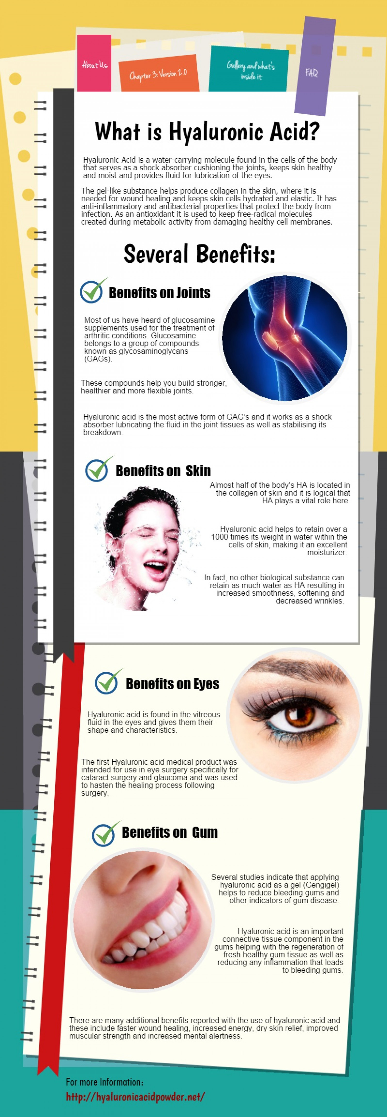 Hyaluronic Acid Supplements Infographic