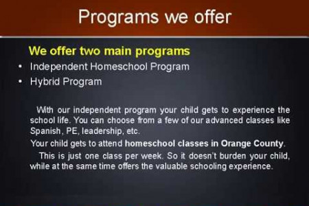 Hybrid homeschool program Infographic