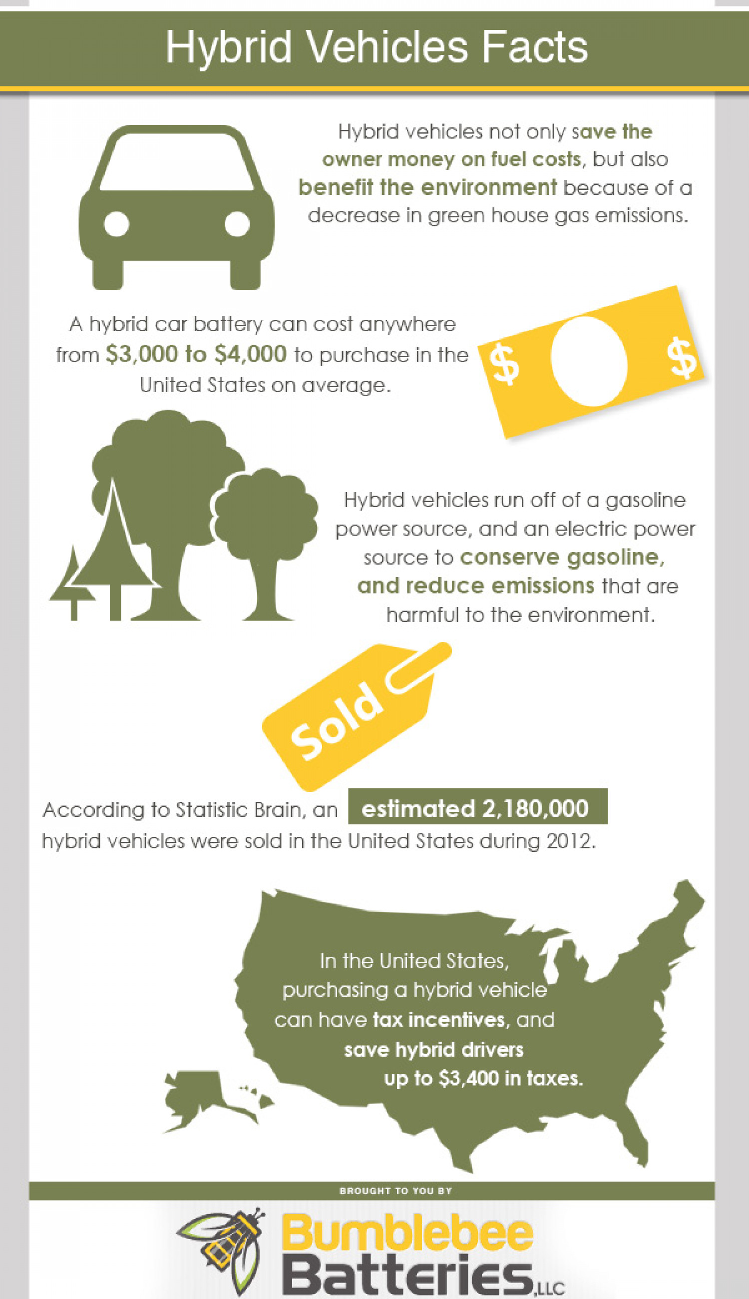 Hybrid Vehicles Facts Infographic