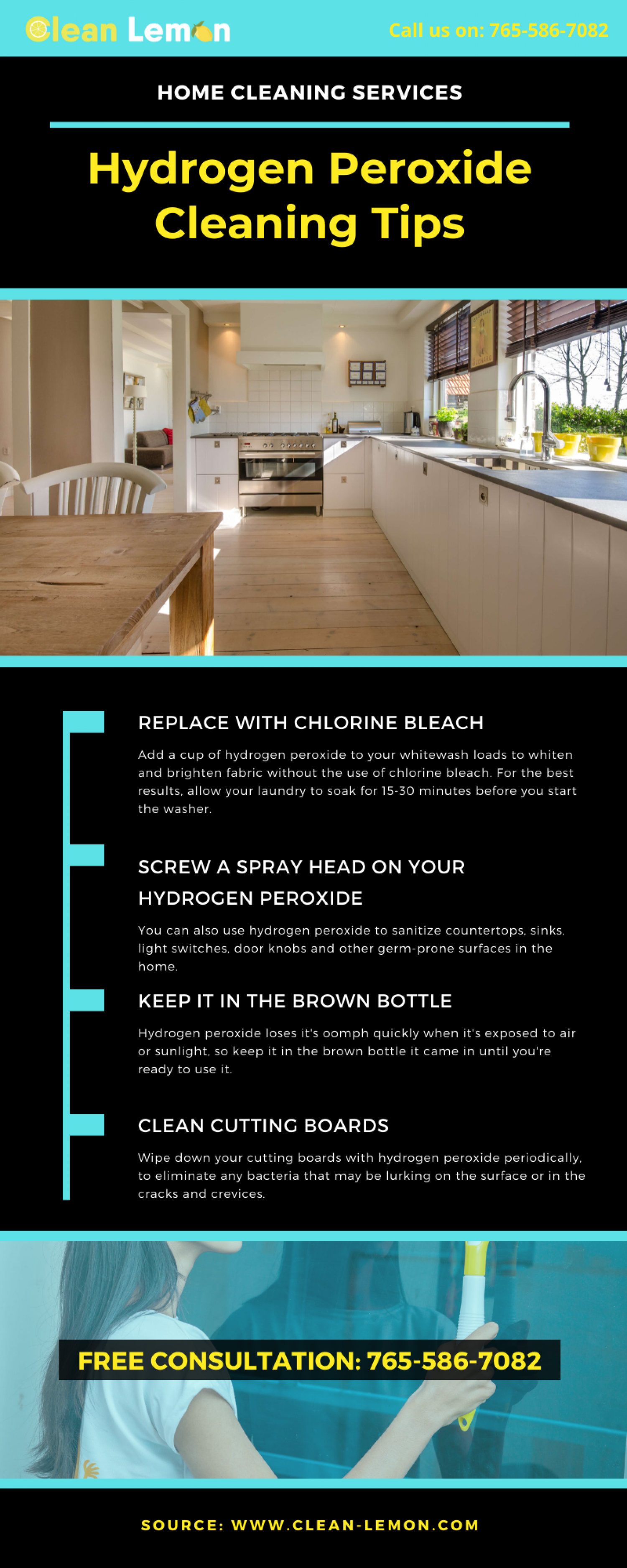 Hydrogen Peroxide Cleaning Tips Infographic