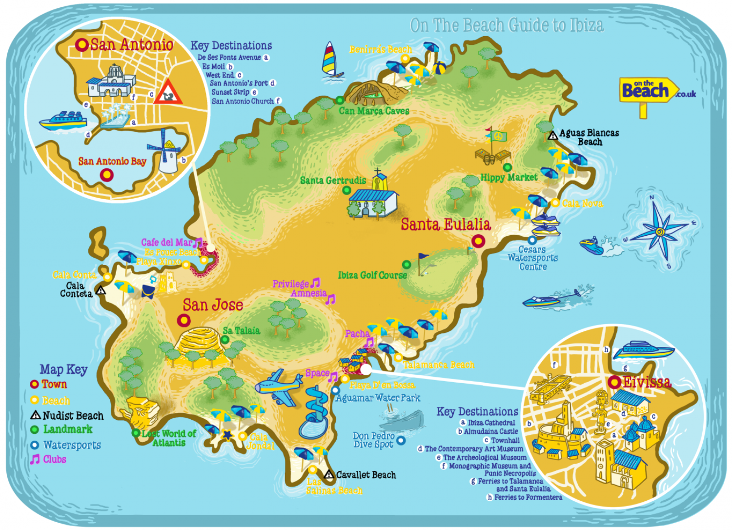 Ibiza Map from OntheBeachcouk Visually