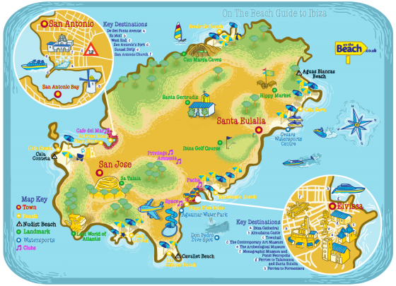 Ibiza On World Map.Ibiza Map From Onthebeach Co Uk Visual Ly