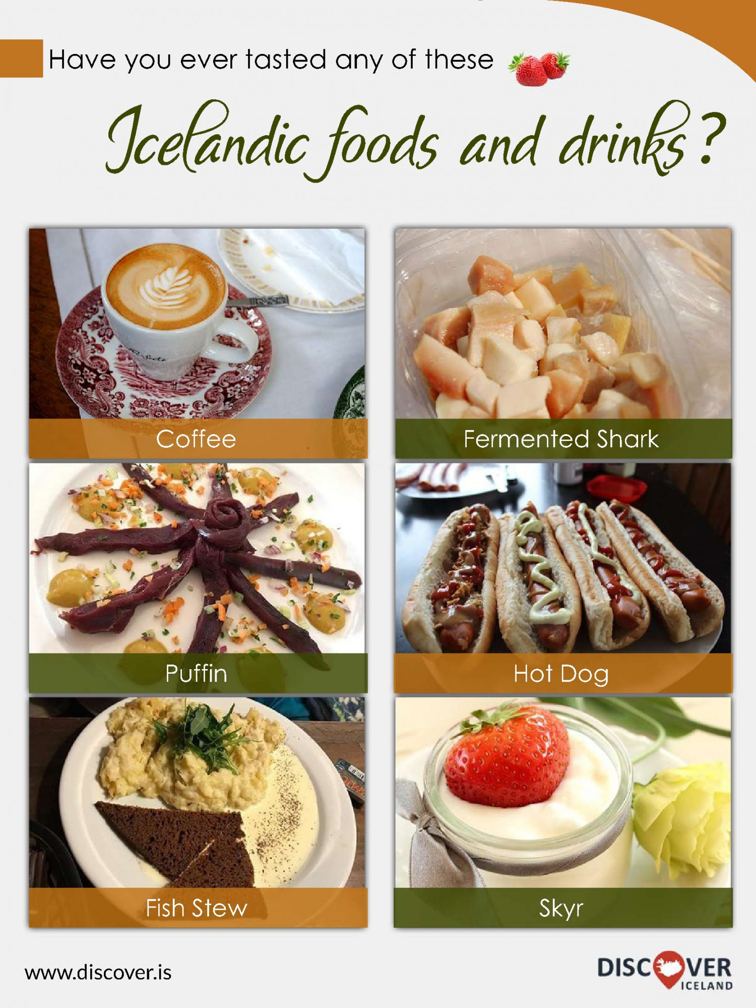 Icelandic foods and Icelandic drinks  Infographic