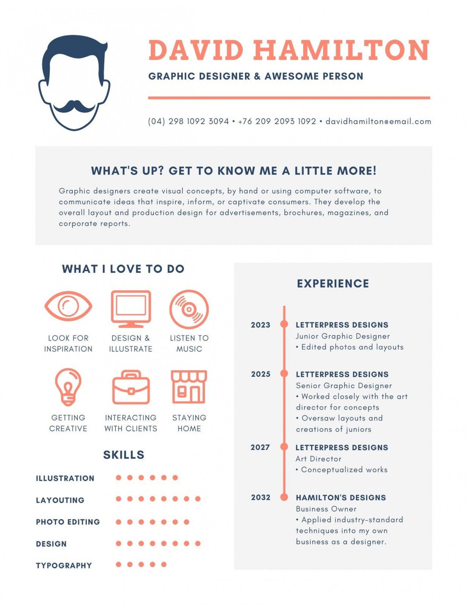 Icons Infographic Resume - Templates ... Infographic