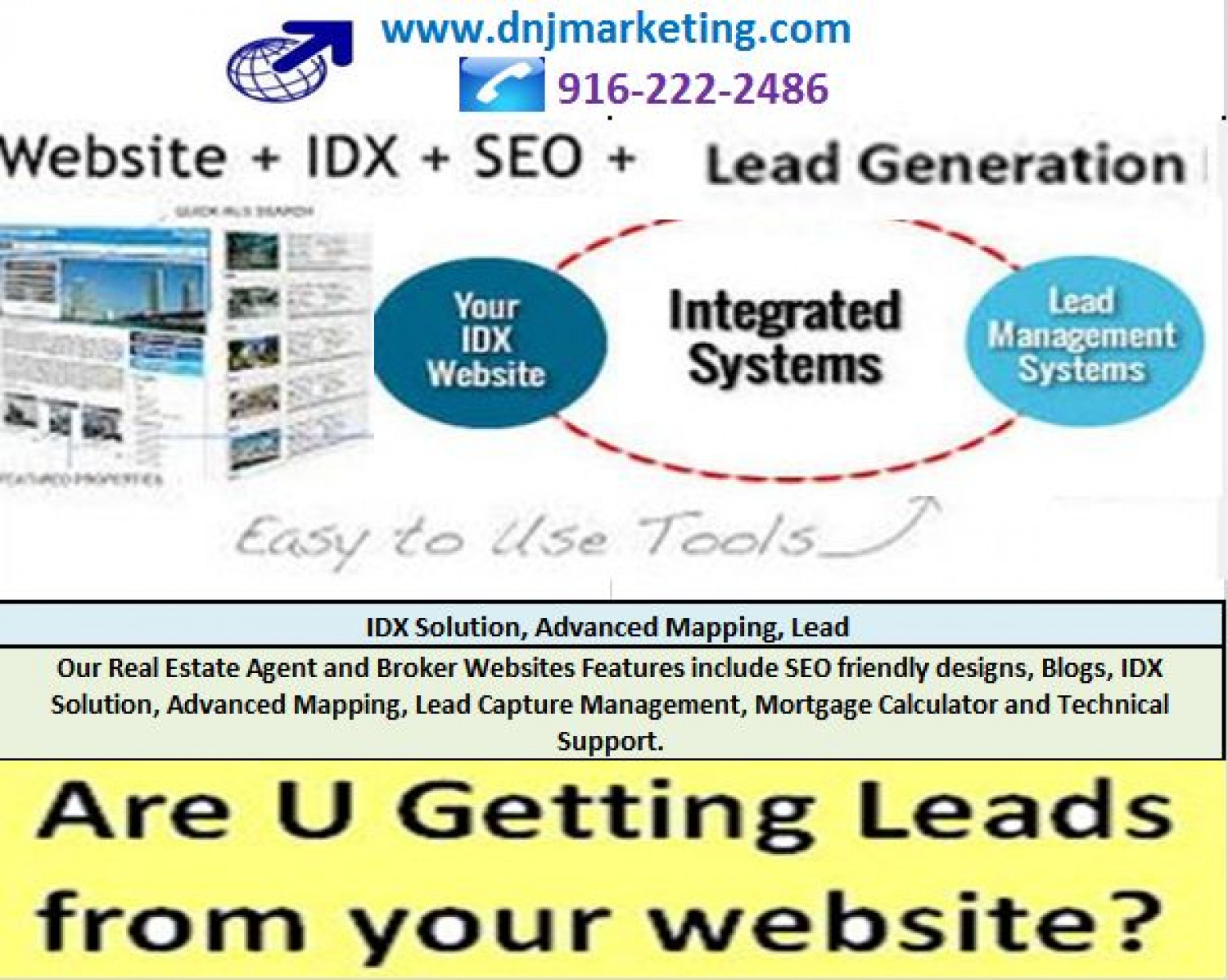 IDX Solutions, Real Estate MLS Websites - Real Estate Web Design and Lead Generation by DNJ Marketing Infographic