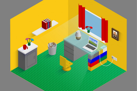 If Brands Did Home Offices: Lego Infographic
