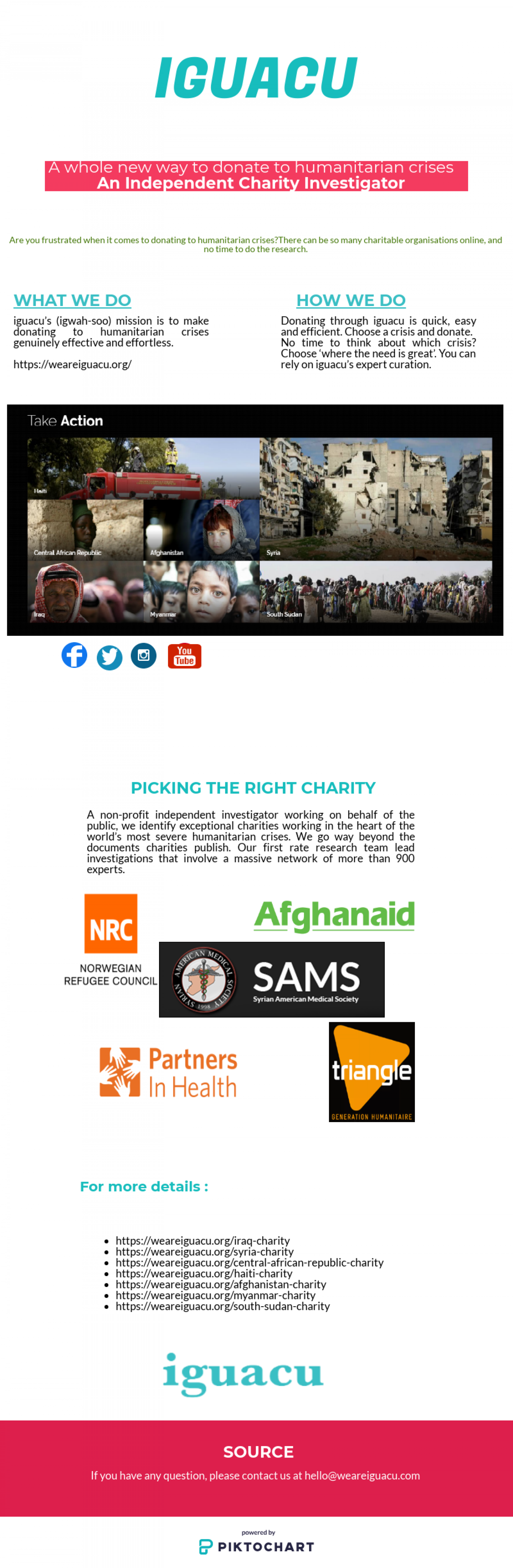 IGUACU- An  Independent charity investigator Infographic