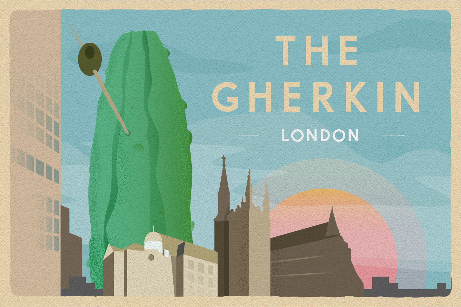 Illustrated Postcards: The Gherkin Infographic