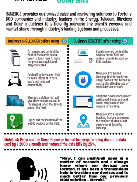 Immerge case study Infographics Infographic