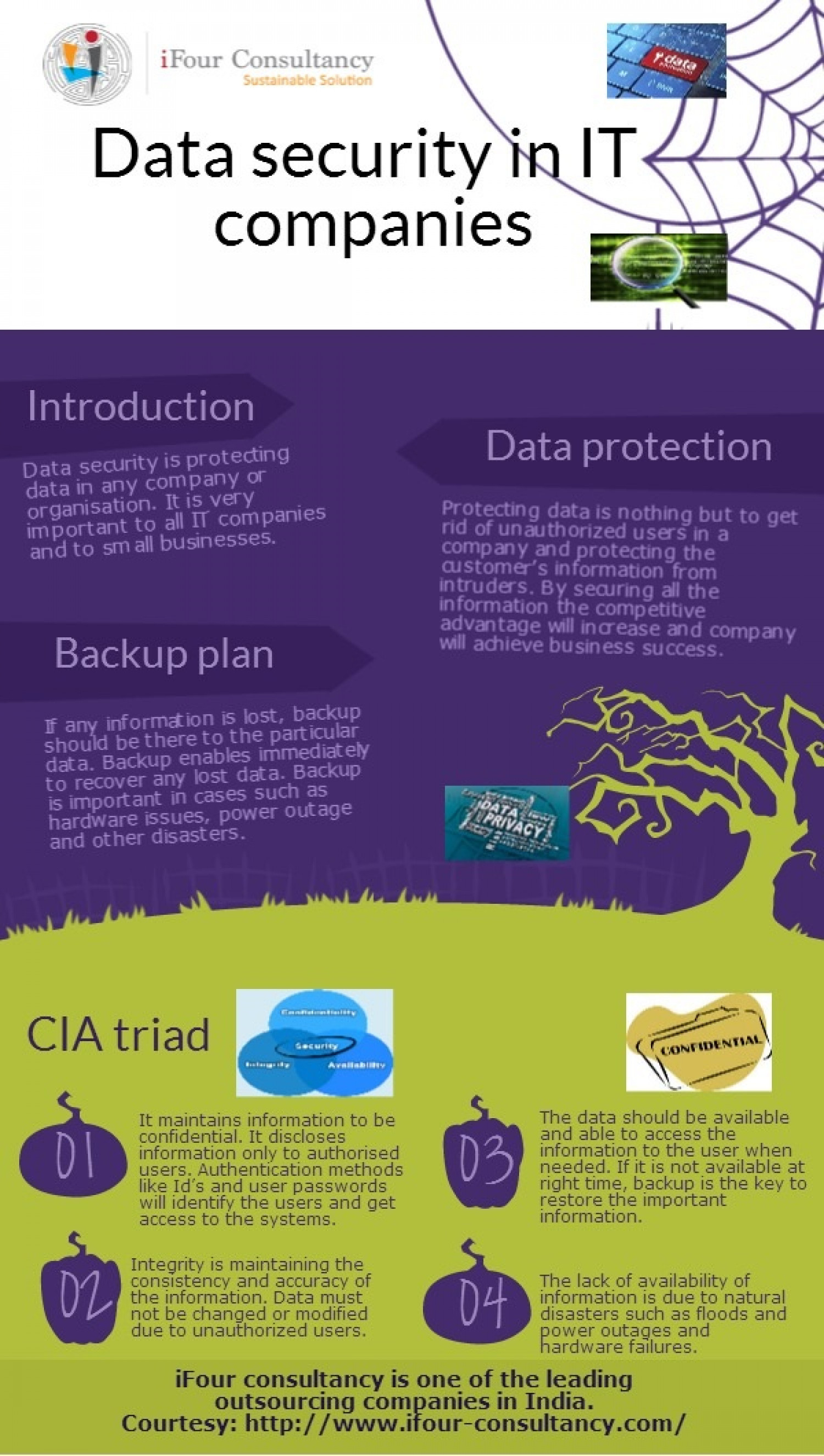 Importance of data security in IT companies Infographic