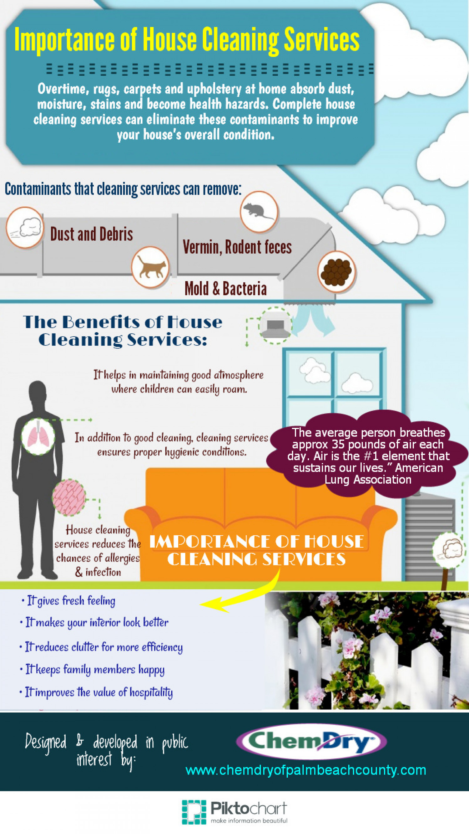 Importance of House Cleaning Services Infographic