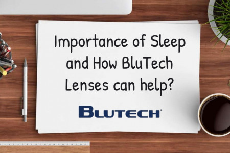 Importance of Sleep and How BluTech Lenses can help? Infographic