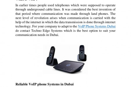 Importance of VoIP Phones in Office Communications Infographic