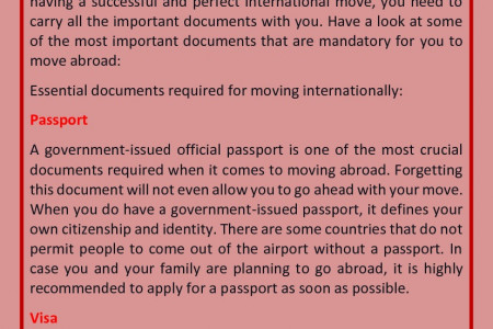Important Documents to Take When Moving Across the Country Infographic