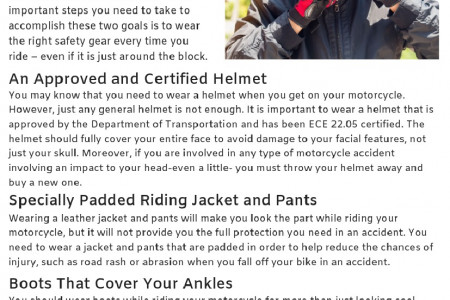 Important Motorcycle Safety Gear Infographic