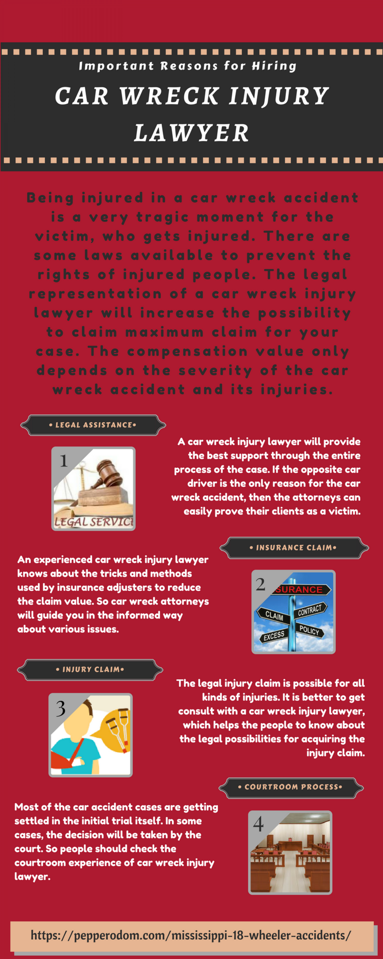 Important Reasons for Hiring a Car Wreck Injury Lawyer Infographic