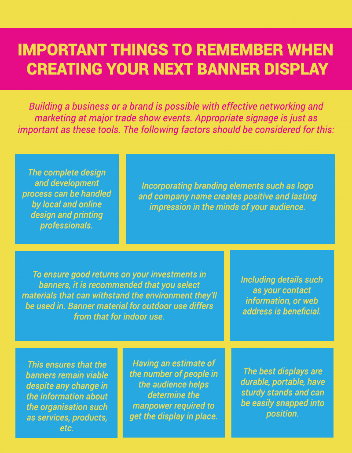 Important Things to Remember When Creating Your Next Banner Display Infographic