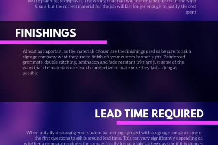 important Tips before placing your order for Custom Banners Online Infographic