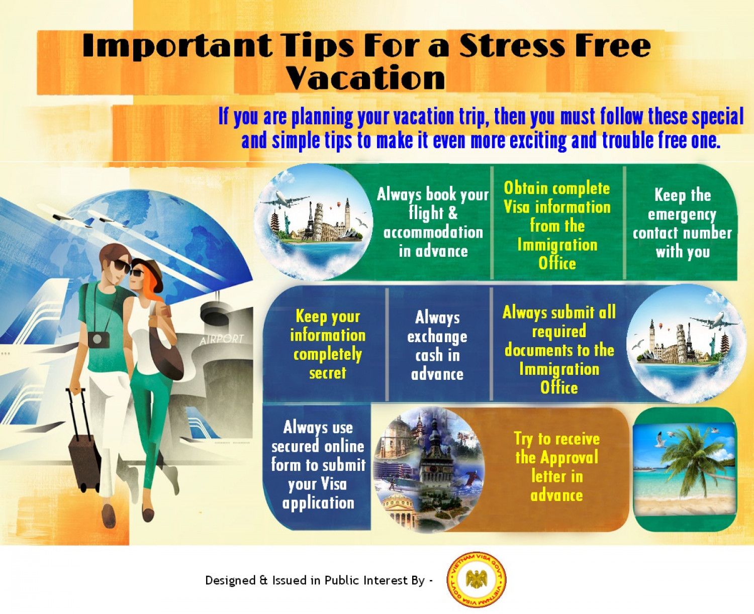 Important Tips For a Stress Free Vacation Infographic
