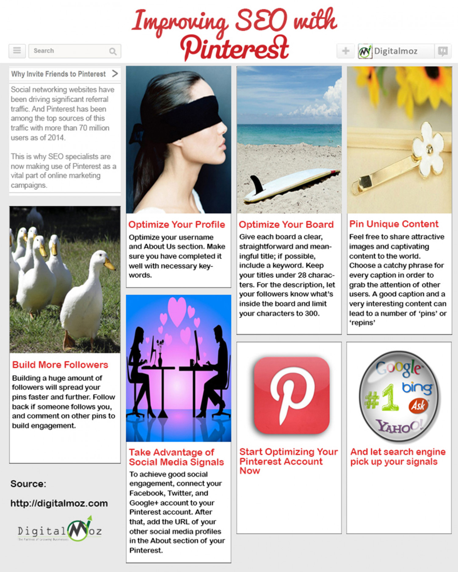Improving SEO with Pinterest Infographic