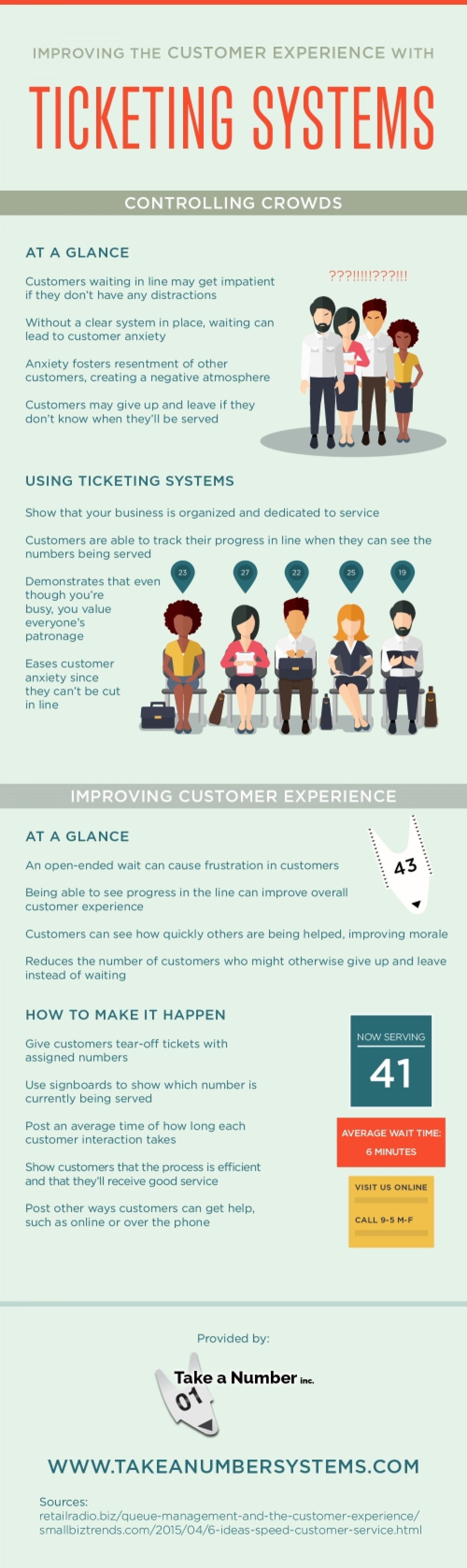Improving the Customer Experience with Ticketing Systems Infographic