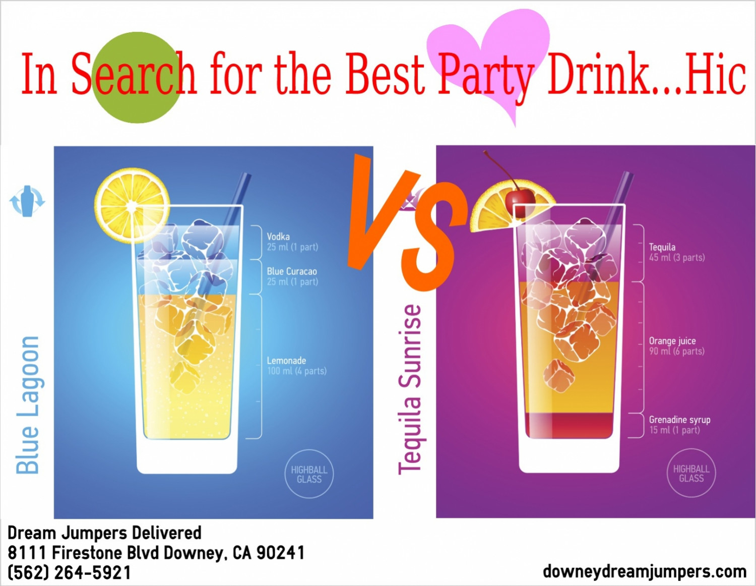 In Search of the Best Party Drink Infographic