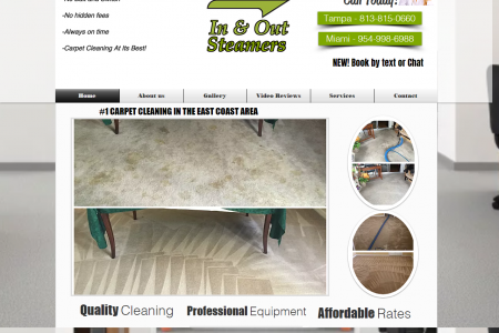 InAndOutSteamers - Carpet Cleaning Services Infographic