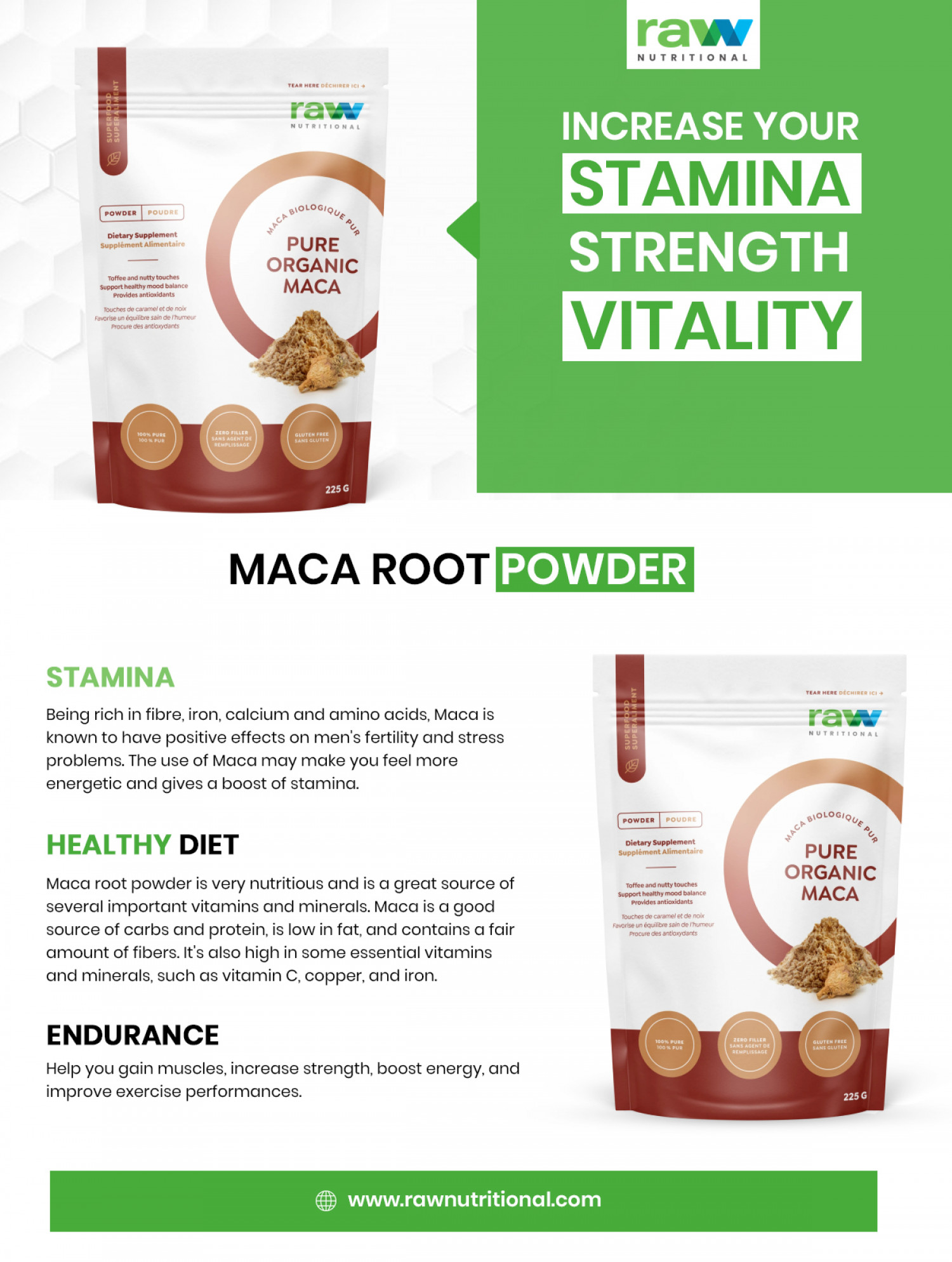 Increase Your Stamina - Strength - Vitality Infographic