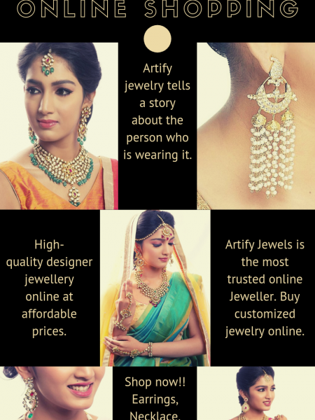 Indian Jewellery Online Shopping USA | Artify Jewels Infographic