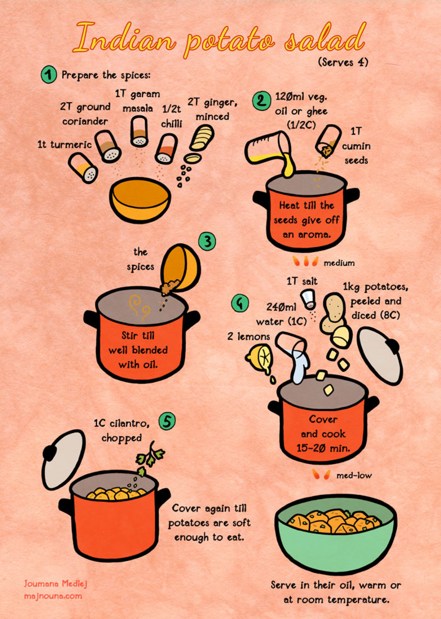 Indian Potato Salad Infographic