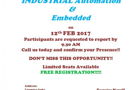 Industrial Automation and Embedded workshop. Infographic