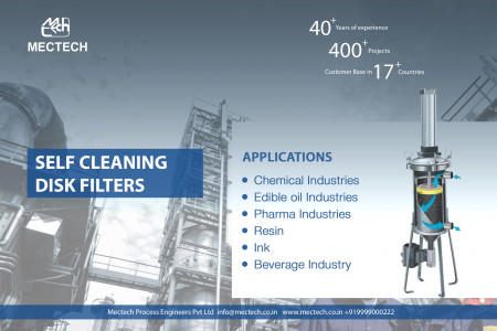 Industrial Filters & Self Cleaning Disk Filters Manufacturer & supplier by Mectech Group India Infographic