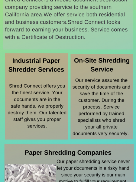 Industrial Paper Shredder Services Infographic