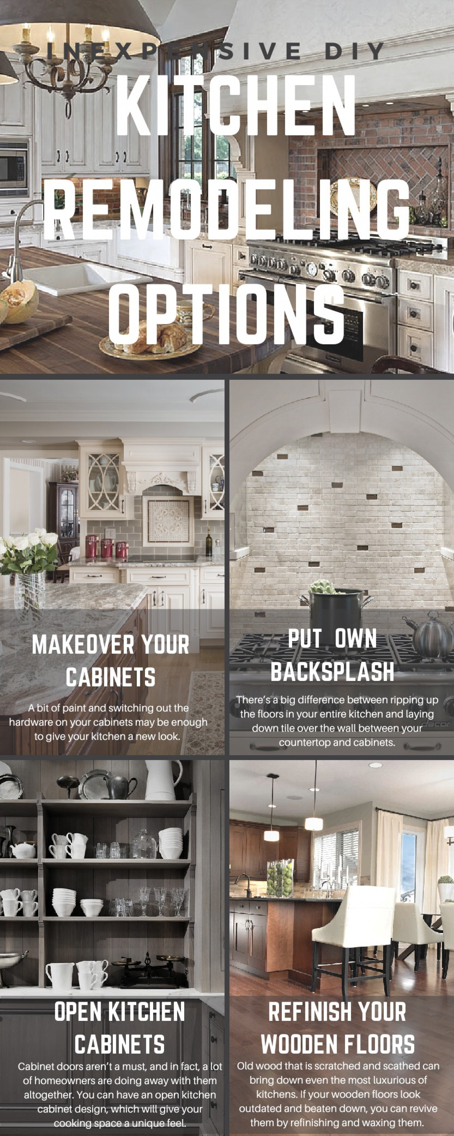 Inexpensive DIY Kitchen Remodeling Options | Visual.ly