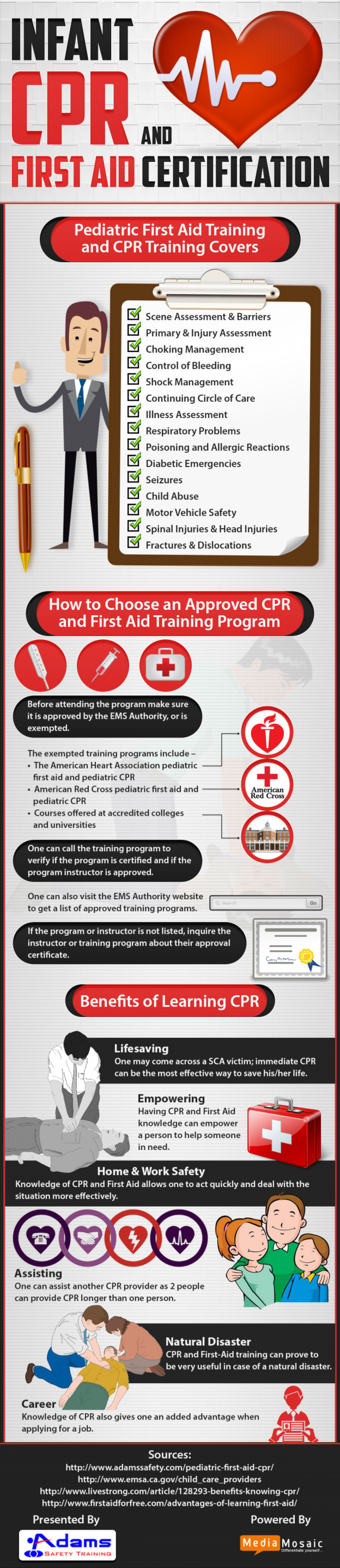 Infant Cpr And First Aid Certification Infographic Visual