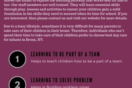 Infant Day Care Bronx NY & Child Care Services Infographic